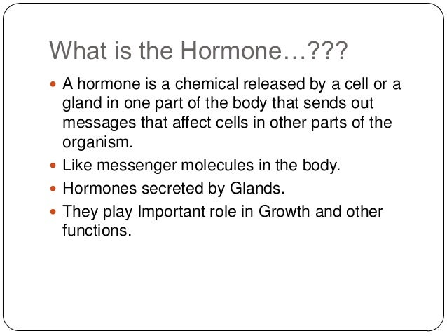 hormnoes as mediator development, Human body