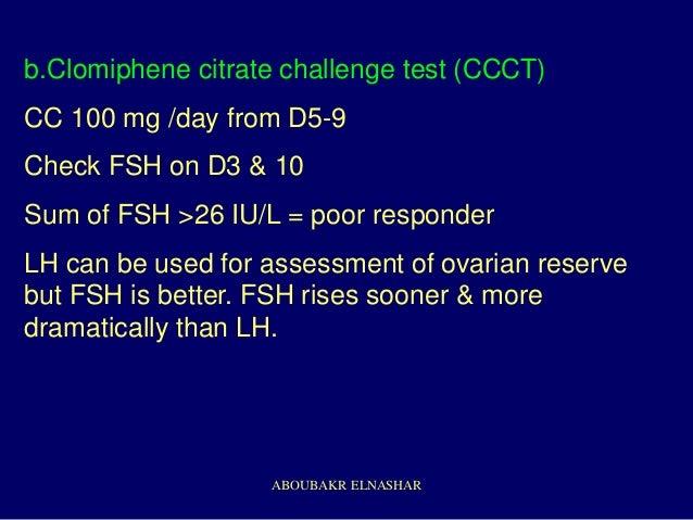 Clomiphene Citrate Challenge Test