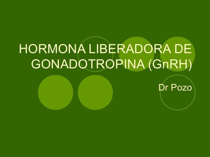 HORMONA LIBERADORA DE GONADOTROPINA (GnRH)                Dr Pozo