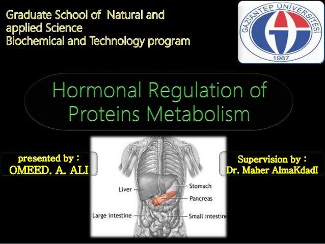 Protein and amino acids metabolism Types of amino acids Digestion of protein Metabolism fates of amino acids Hormonal regu...