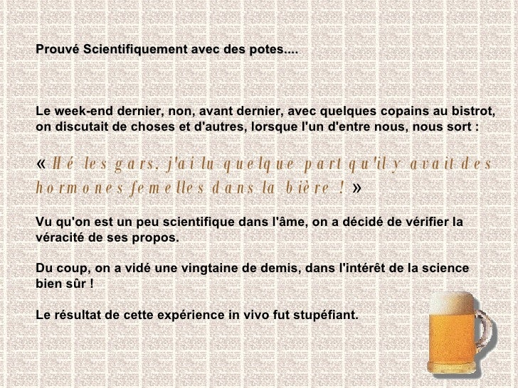 Hormones femelles dans la bière Slide 2