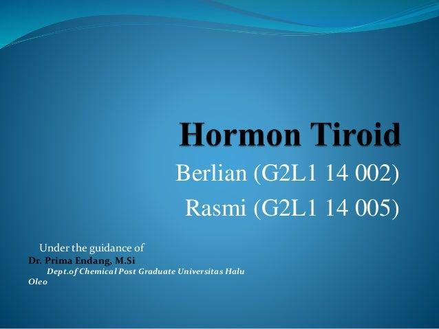 Berlian (G2L1 14 002) Rasmi (G2L1 14 005) Under the guidance of Dr. Prima Endang, M.Si Dept.of Chemical Post Graduate Univ...