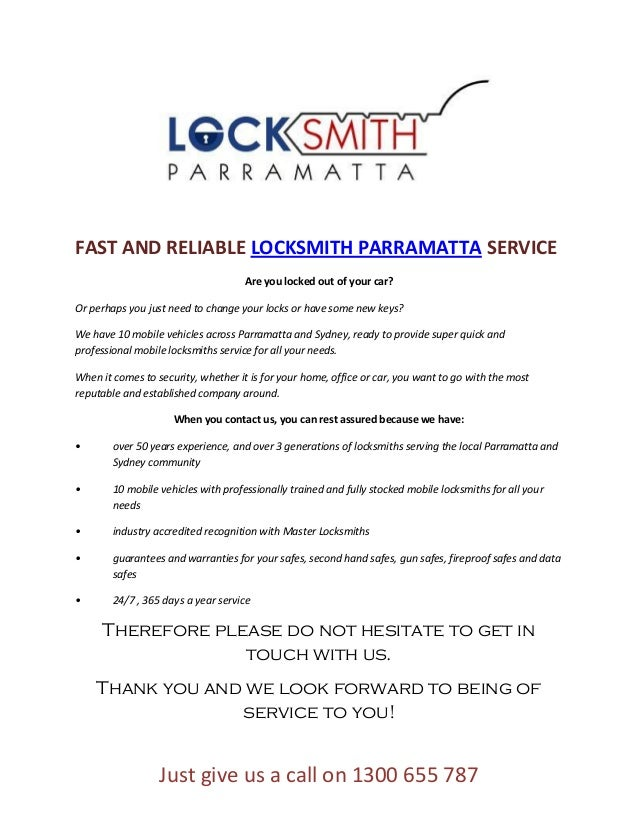 FAST AND RELIABLE LOCKSMITH PARRAMATTA SERVICE                                     Are you locked out of your car?Or perha...