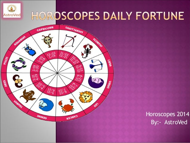 Horoscopes 2014 By:- AstroVed