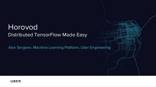 Horovod Distributed TensorFlow Made Easy Alex Sergeev, Machine Learning Platform, Uber Engineering