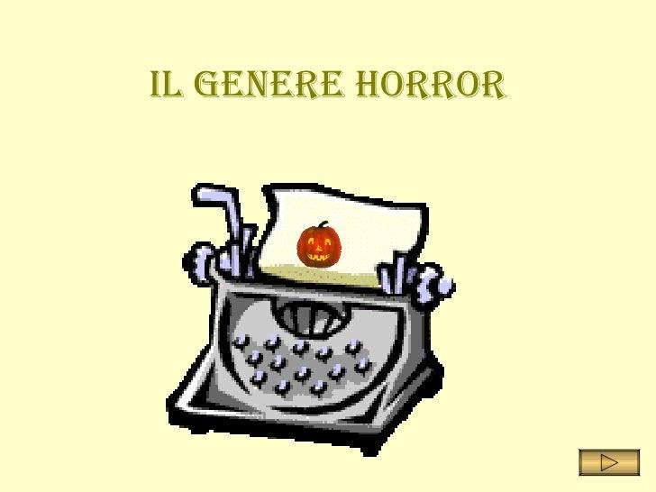Il genere Horror