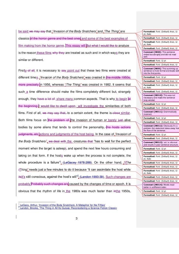 horror genre essay example Students will be required to write an essay and then submit it to their class  teacher for marking  write and peer-mark a short story or poem in the horror  genre completing then creating  asked to list examples students they are  familiar with.