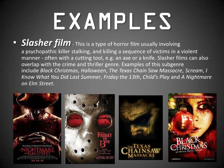 horror film forms and conventions
