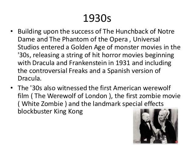 Horror film timeline