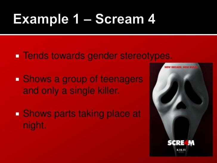    Gender stereotypes.   Serial Killer style.   Setting/time.