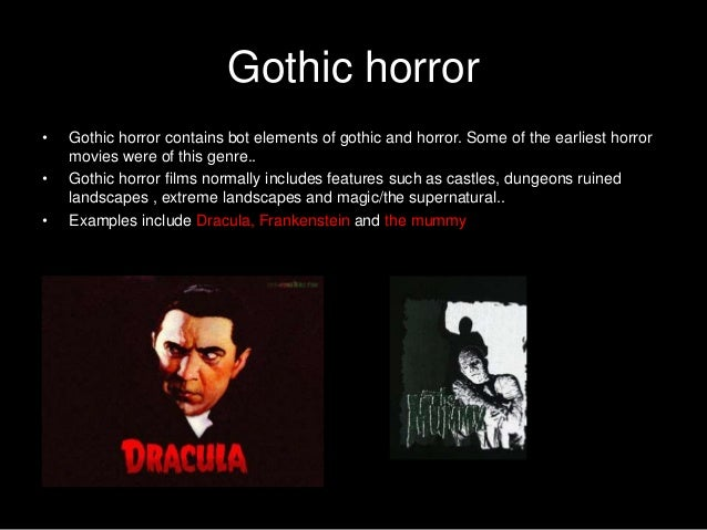 conservative elements in horror genre Strictly—at least five conventional generic elements must be present in the movie for it to be of a particular genre obscurely—only scholars and critics are allowed to deem a movie of a particular genre depending on the conventional elements it incorporates.