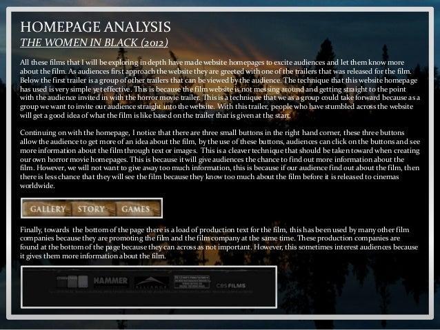 Horror movie homepage analysis Slide 3
