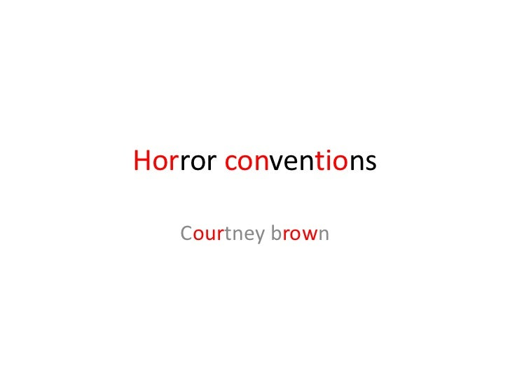 Horror conventions   Courtney brown