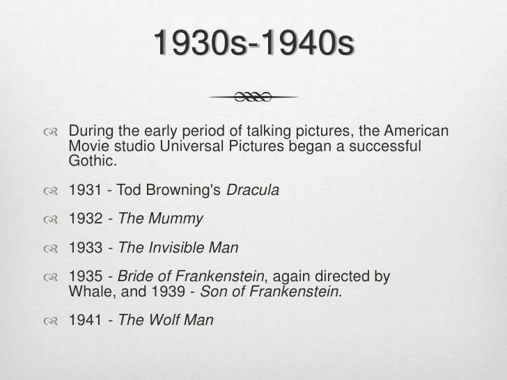 Horror timeline