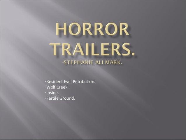 -Resident Evil: Retribution.-Wolf Creek.-Inside.-Fertile Ground.