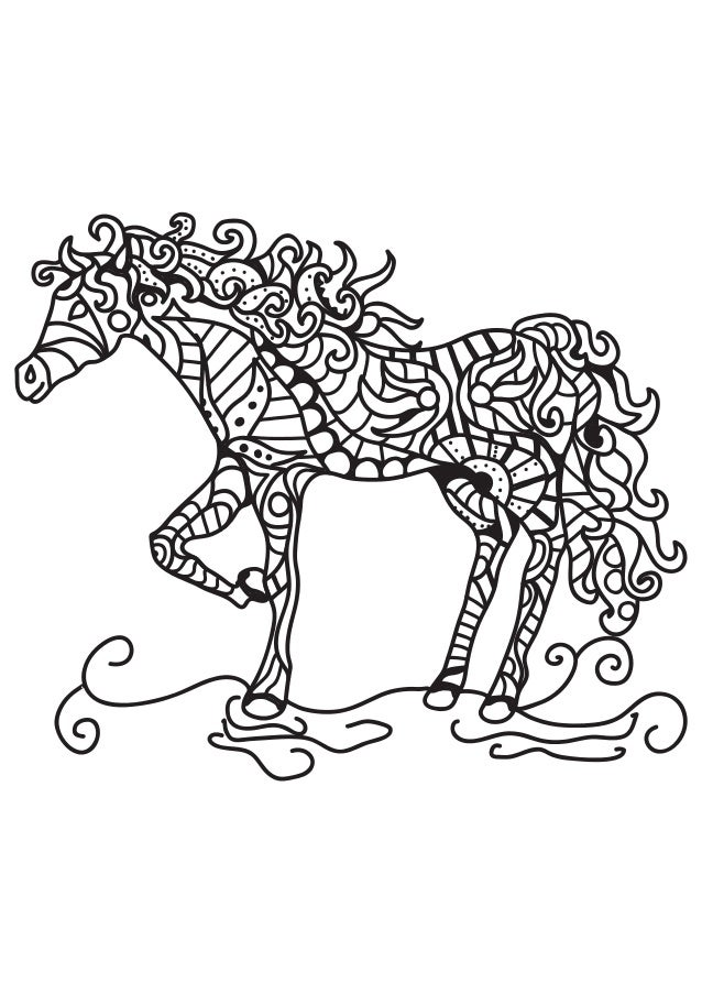 Horse Coloring Pages Printable Coloring Book For Adults