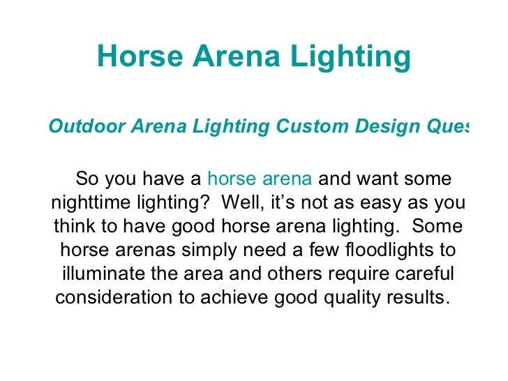 horse arena lighting