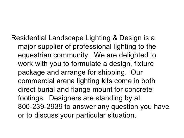 ... 4. u003culu003eu003cliu003eResidential Landscape Lighting u0026 Design ...  sc 1 st  SlideShare & Horse arena lighting
