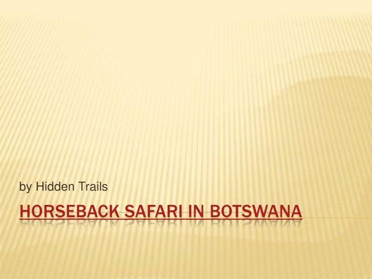 Horseback Safari in Botswana<br />by Hidden Trails<br />