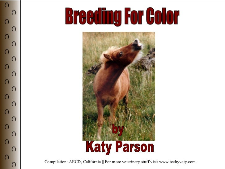 Breeding For Color by Katy Parson Compilation: AECD, California || For more veterinary stuff visit www.techyvety.com