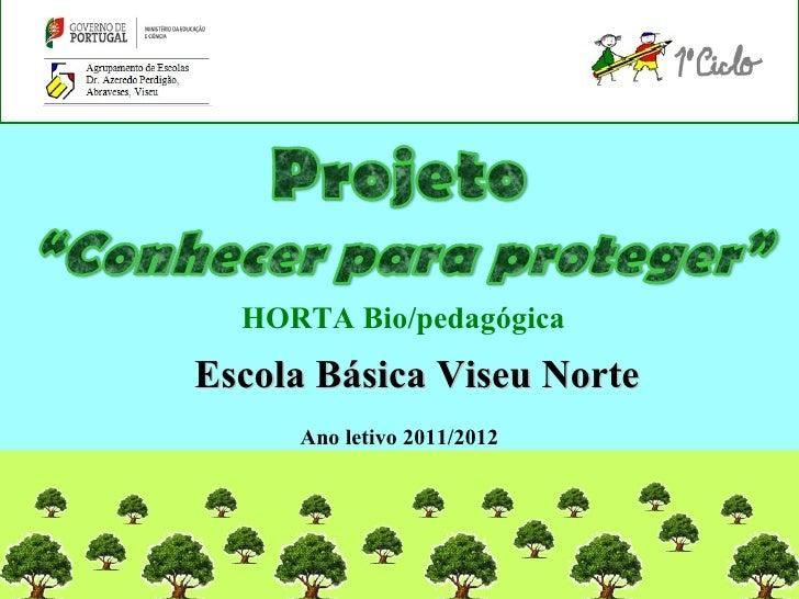 HORTA Bio/pedagógicaEscola Básica Viseu Norte     Ano letivo 2011/2012