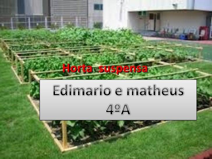 Horta suspensa