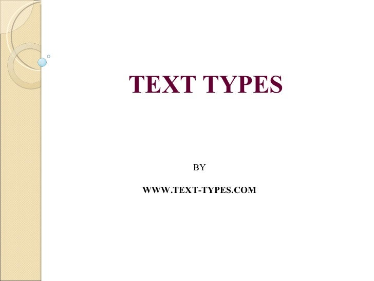 TEXT TYPES BY  WWW.TEXT-TYPES.COM