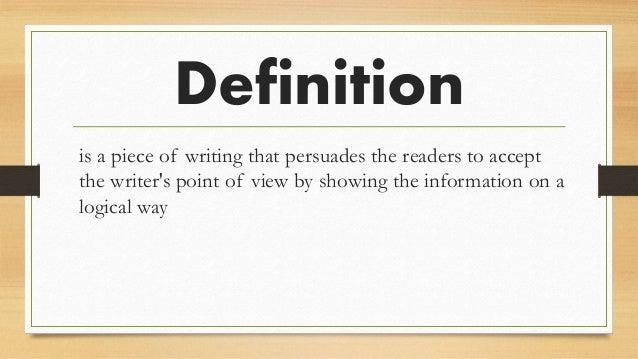 definition hortatory exposition