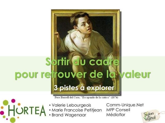3 pistes à explorer • Valerie Lebourgeois • Marie Francoise Petitjean • Brand Wagenaar Comm-Unique.Net MFP Conseil Médiofl...
