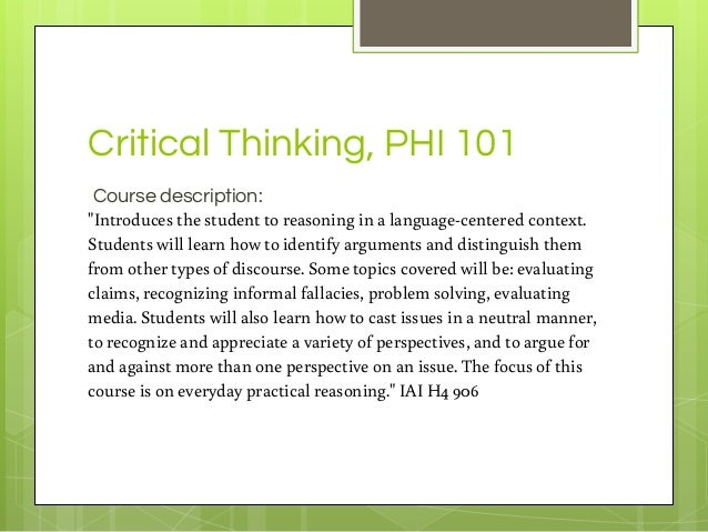 critical thinking and problem solving course description Elementary course descriptions grades k-5 and vocabulary while focusing on 21st century skills including critical thinking and problem solving.
