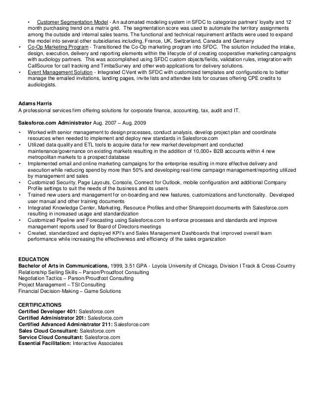 salesforce experienced resumes - Roho.4senses.co