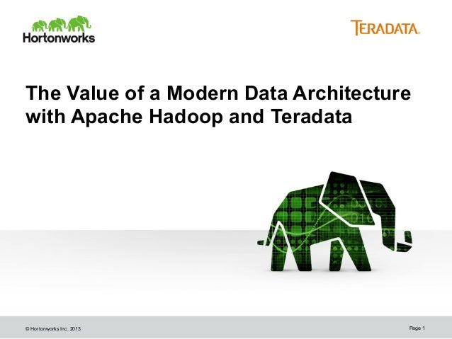 The Value of a Modern Data Architecture with Apache Hadoop and Teradata  © Hortonworks Inc. 2013  Page 1