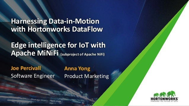 1 © Hortonworks Inc. 2011 – 2016. All Rights Reserved Harnessing Data-in-Motion with Hortonworks DataFlow Edge intelligenc...