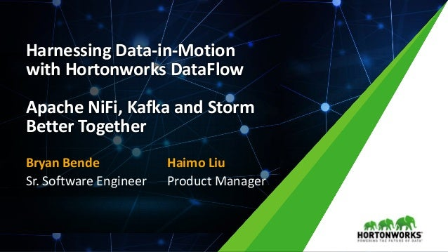 1 © Hortonworks Inc. 2011 – 2016. All Rights Reserved Harnessing Data-in-Motion with Hortonworks DataFlow Apache NiFi, Kaf...