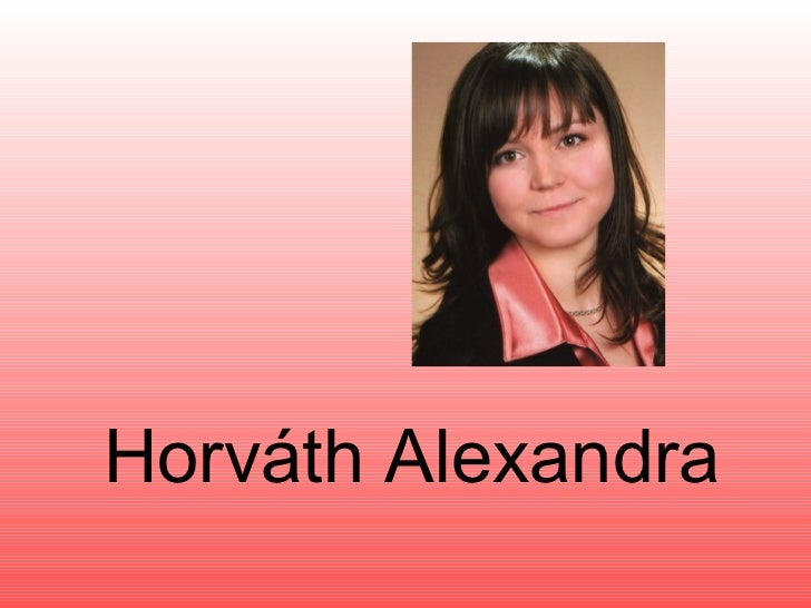 Horváth Alexandra