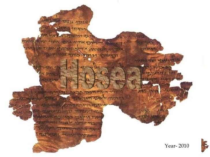 Year- 2010 Hosea