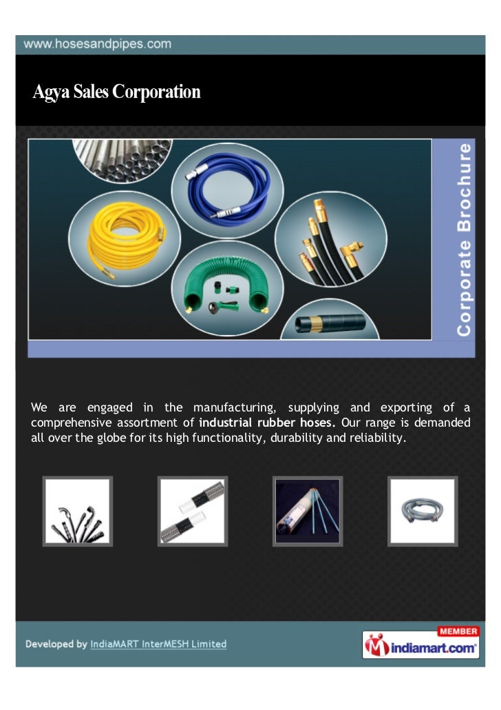 We are engaged in the manufacturing, supplying and exporting of acomprehensive assortment of industrial rubber hoses. Our ...