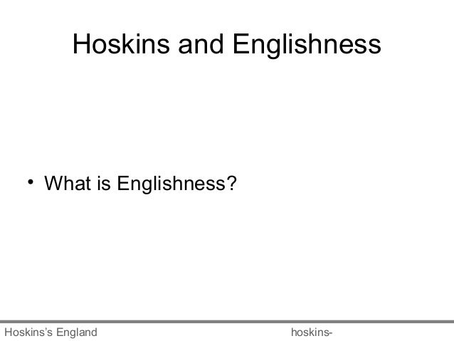 englishness and landscape Its essential theme is the underlying link between englishness and the landscape  but it goes further and deeper than this into literature, culture and nationalism.