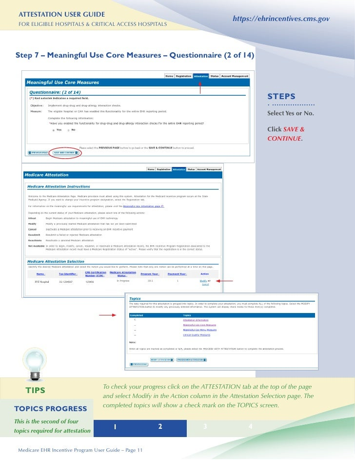 hospital attestation user guide rh slideshare net EHR Policy EHR Policy