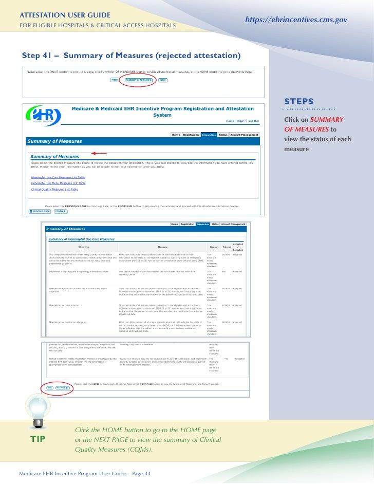 hospital attestation user guide rh slideshare net cms ehr incentive program attestation user guide cms ehr incentive program attestation user guide