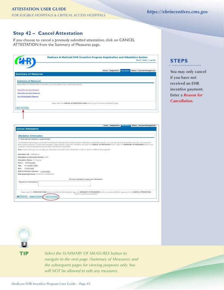 hospital attestation user guide rh slideshare net EHR System EHR Policy