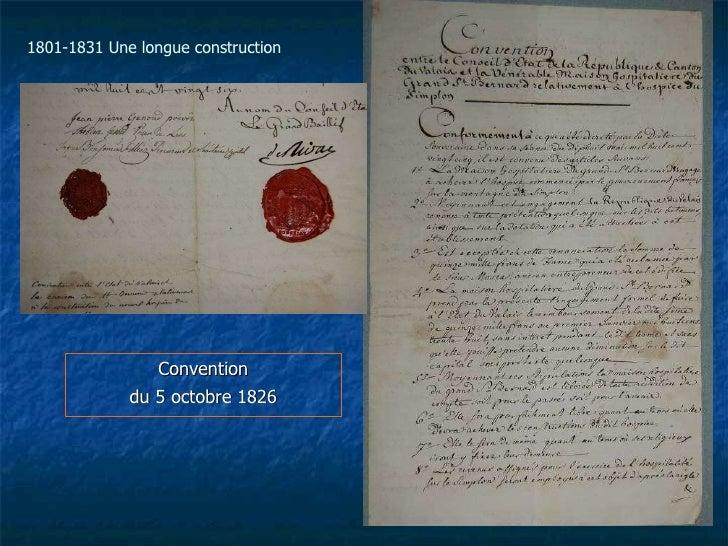 Convention du 5 octobre 1826 1801-1831 Une longue construction