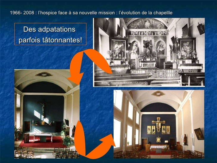 1966- 2008 : l'hospice face à sa nouvelle mission : l'évolution de la chapellle Des adpatations  parfois tâtonnantes!