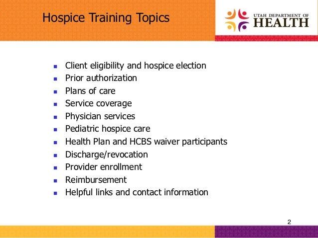 hospice provider training 10 22 12