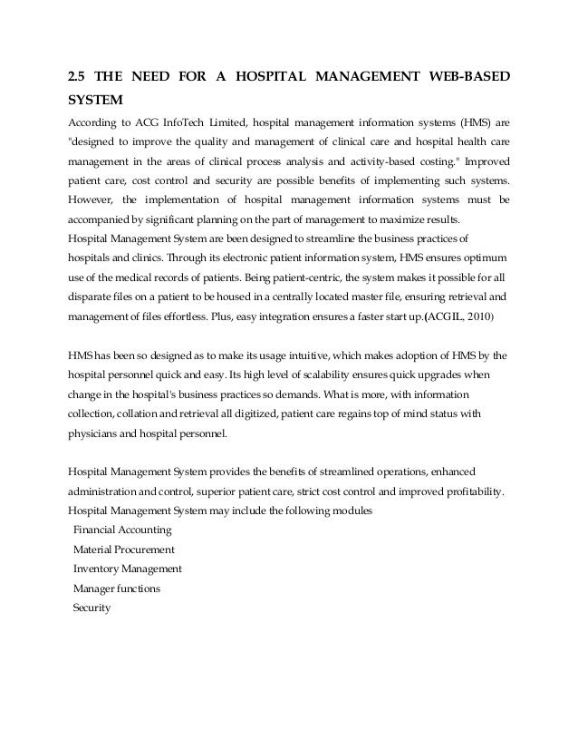 "thesis related literature for hospital management system Master""s thesis committee key issues of hospital information management system application areas as well as the related management issues for."