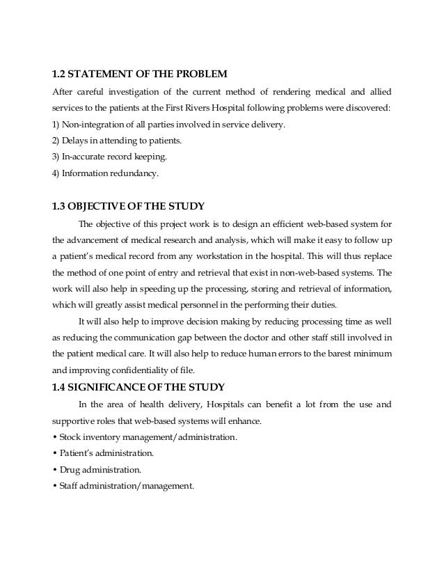 statement of the problem in thesis library system Examples of thesis statement thesis statements a convincing rhetorical effect to the readers that your research problem has been resolved.