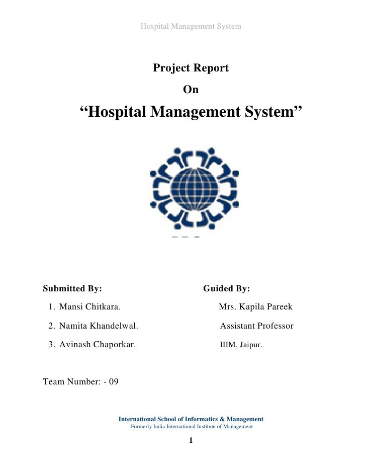Hospital Management System                                    Project Report                                             O...