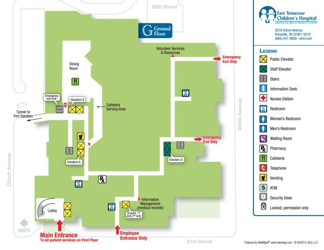 East Tennessee Children's Hospital Layout
