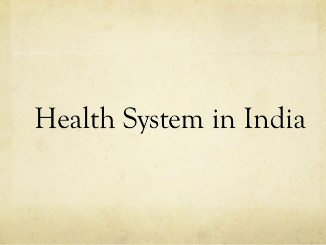 Health System in India