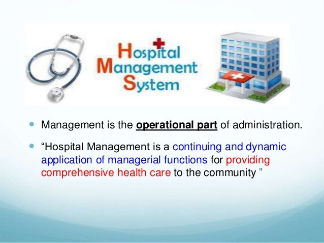 Hospital Administration Role In Quality Patient Care